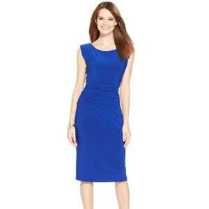 Nine West royal blue ruched dress size 2